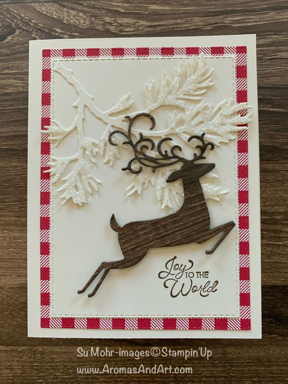 Boughs and Antlers Card