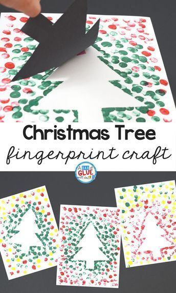 Christmas Tree Fingerprint Craft