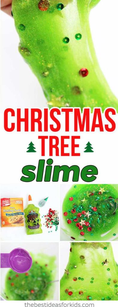 Christmas Tree Slime Recipe