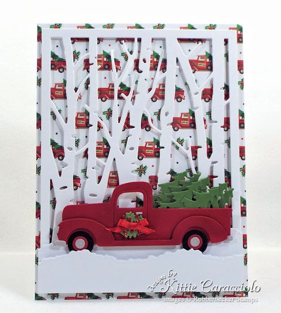 Christmas Tree Truck Card