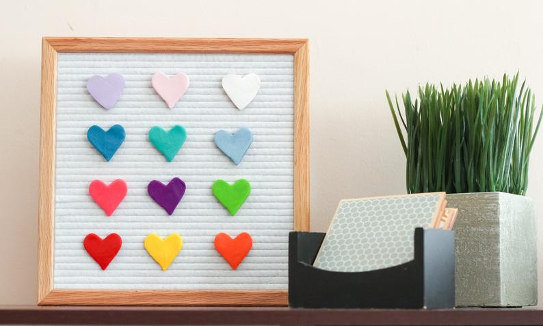 Clay Heart Letter Boards