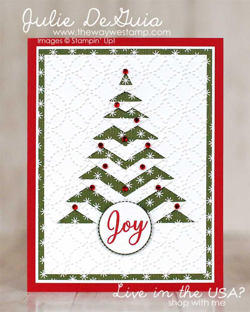 Lace Fold Christmas Tree Card