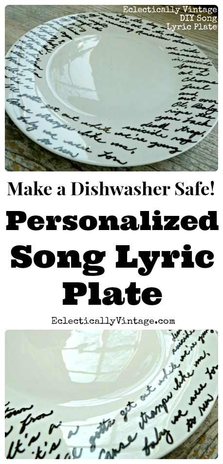 Personalized Song Lyric Plate