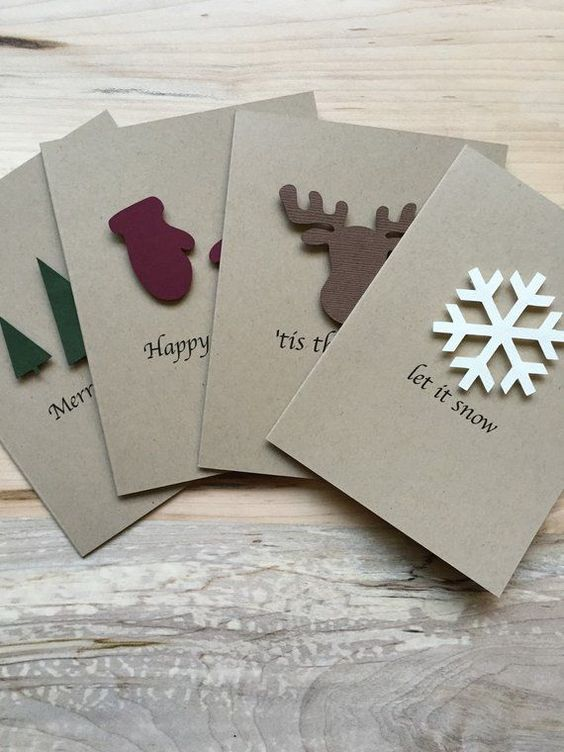 Rustic Holiday Card Set