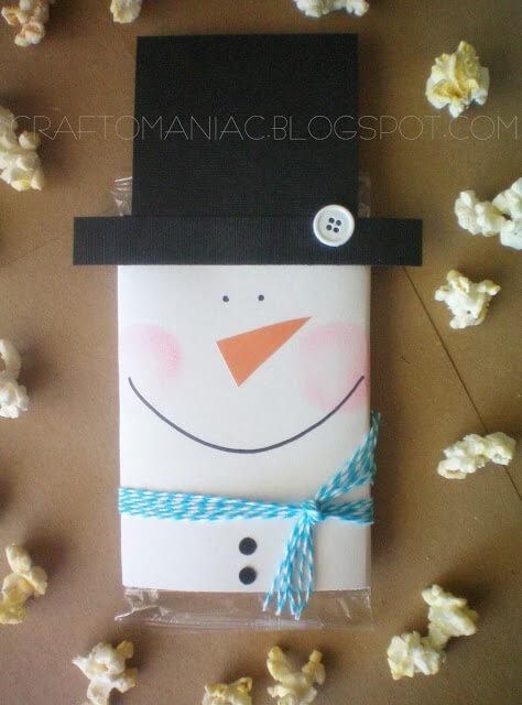 Snowman Popcorn