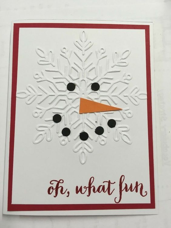 Snowman Snowflake Card
