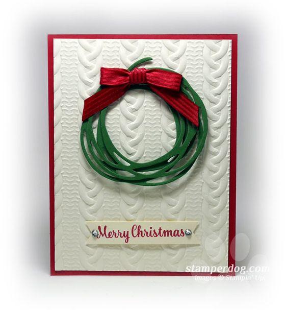 Textured Christmas Card