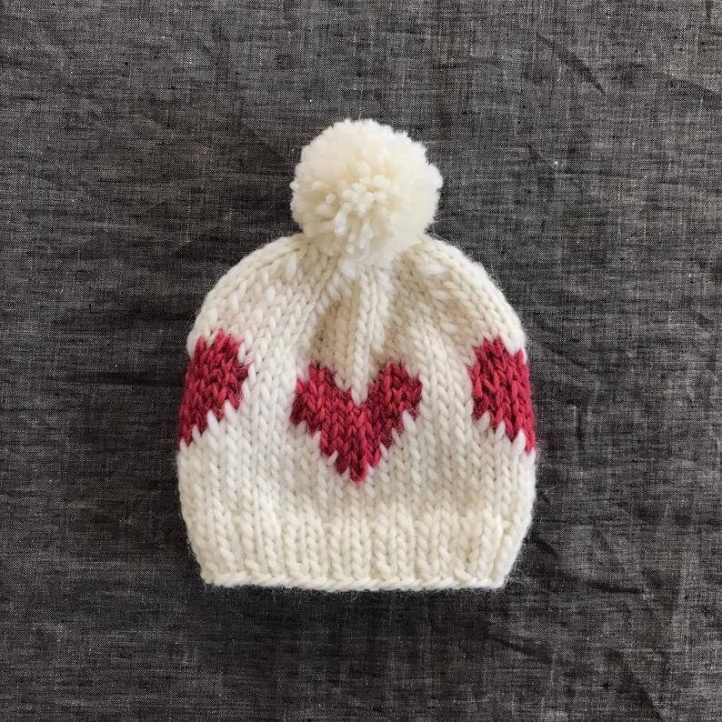 White and Pink Beanie