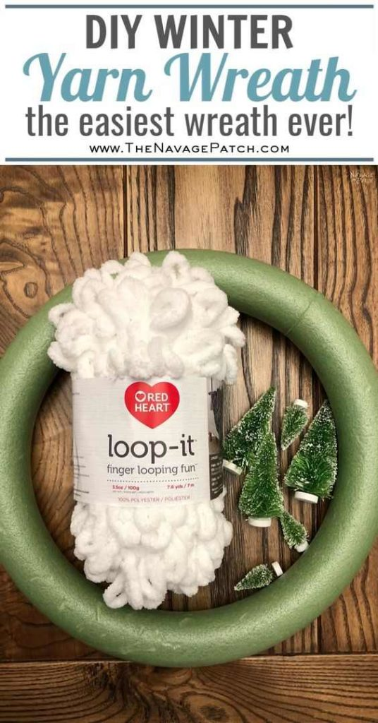 Winter Loop Yarn Wreath