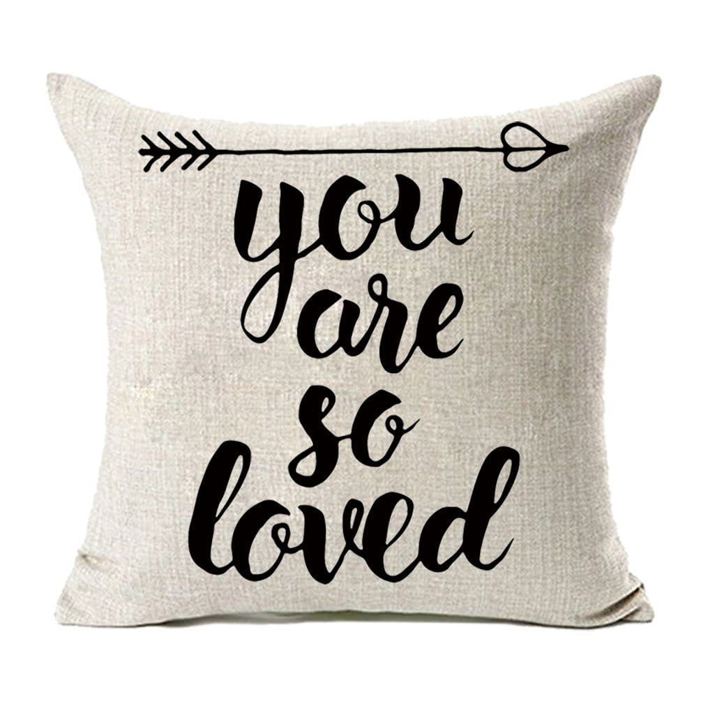 """You Are So Loved"" Pillow Cover"