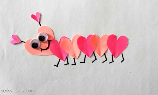 A Heart Caterpillar Craft