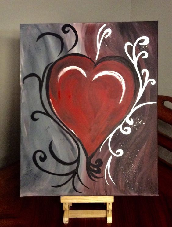 Abstract Heart Picture