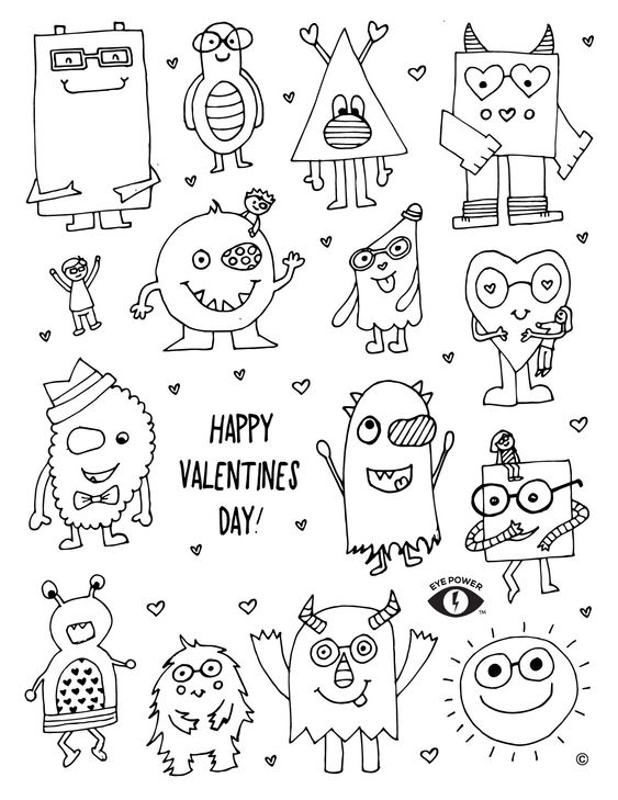 Activities Themed Valentines Coloring Pages 1
