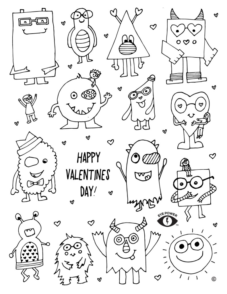 Activities Themed Valentines Coloring Pages 2