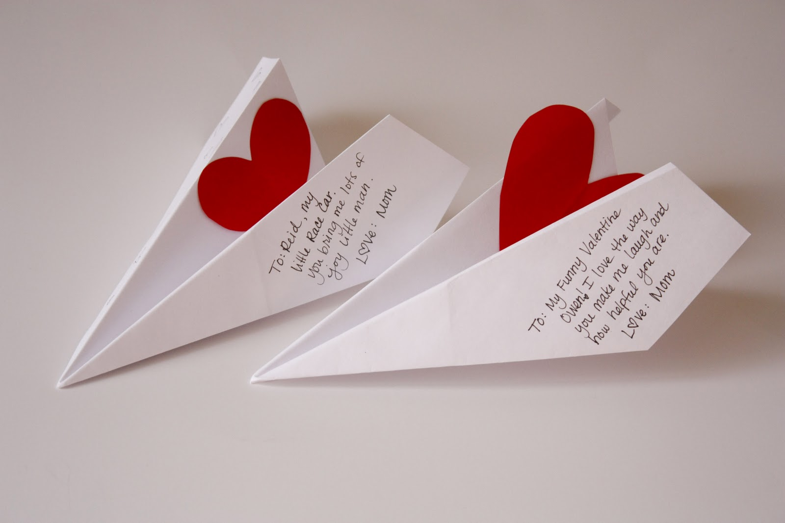 Airplane Valentine Card