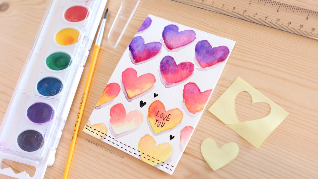 Colorful Ombre Hearts