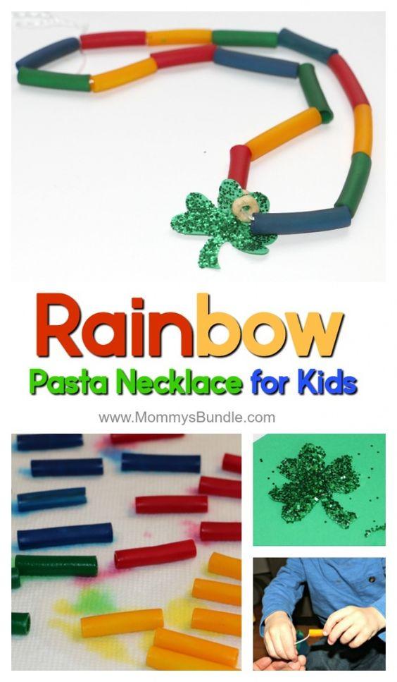DIY Rainbow Necklace