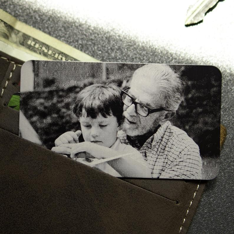 Engraved Wallet Card