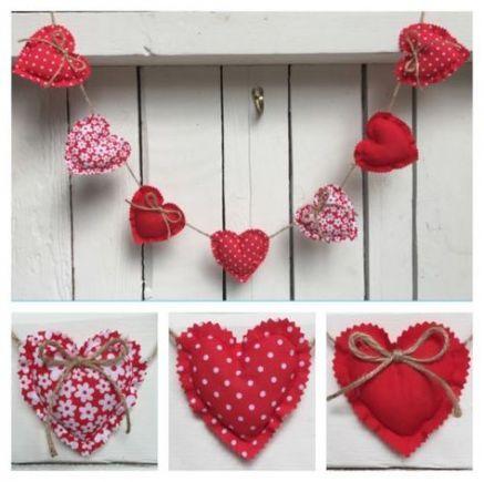 Fabric Heart Banner