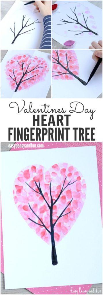 Fingerprint Heart Tree