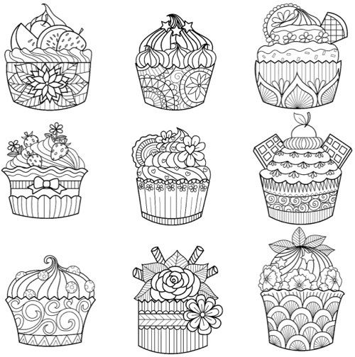 Food-Themed Valentine Coloring Pages 1
