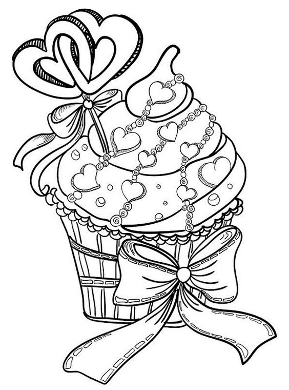 Food-Themed Valentine Coloring Pages 3