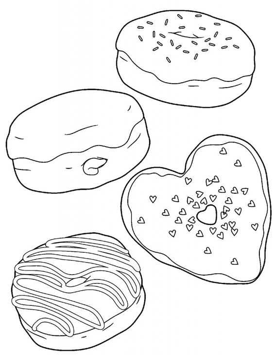 Food-Themed Valentine Coloring Pages 4