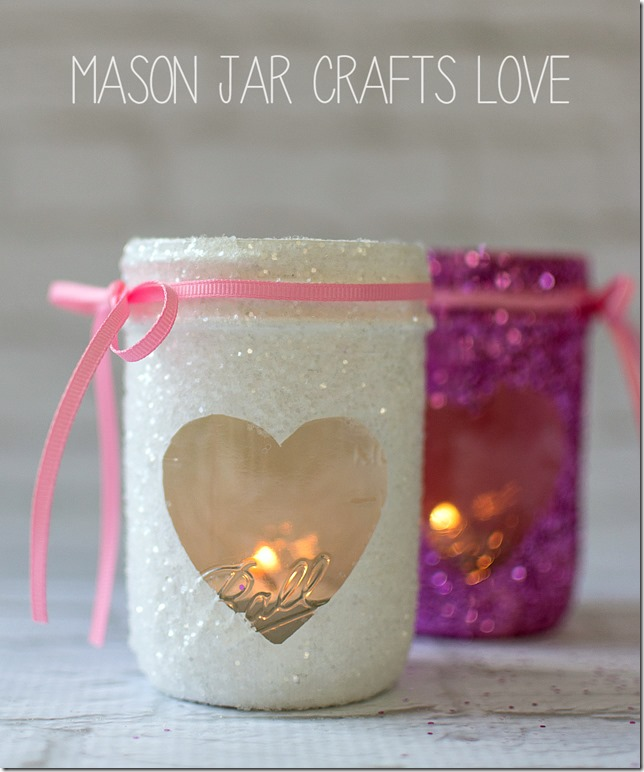 Glitter heart votives