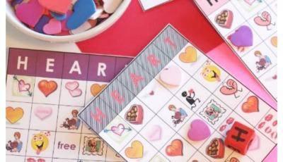Heart Bingo for a creative Valentine's Day