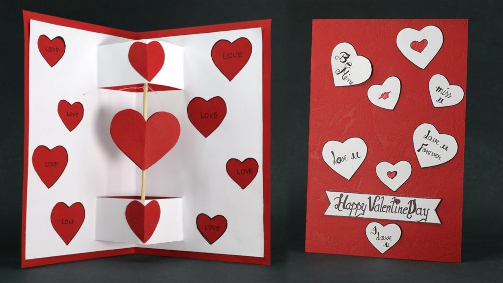 Heart Pop-Up Valentine Card