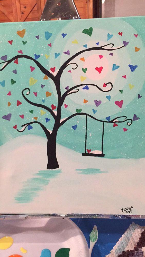 Heart Snow Scene