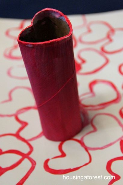 Heart Stamp Painting