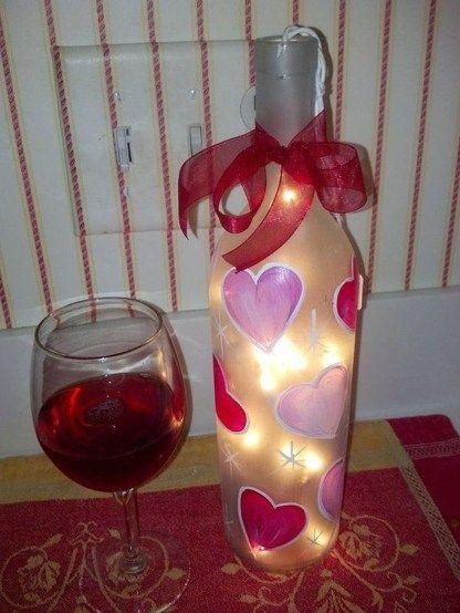 Heart Wine Bottle