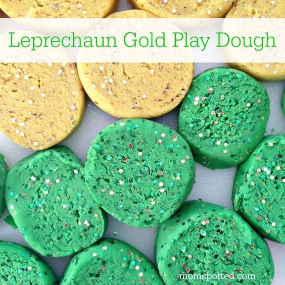 Homemade Leprechaun Gold Play Dough