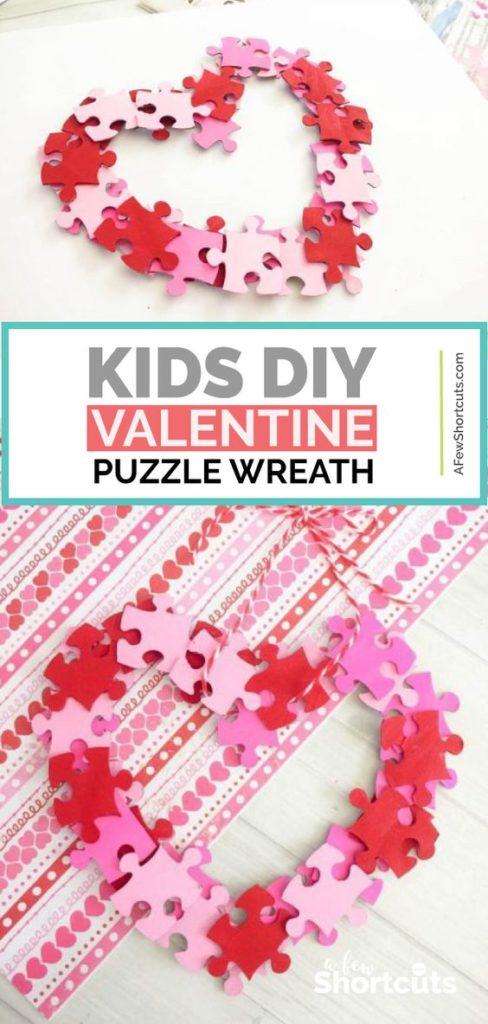 Kids Valentine Puzzle Wreath