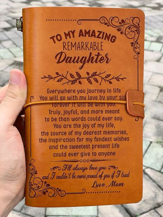 Leather Journal for Daughter