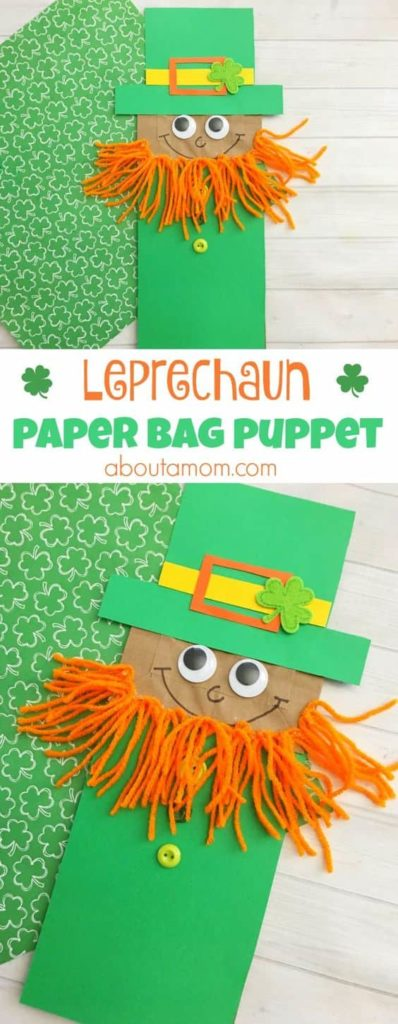 Leprechaun Paper Bag Puppet