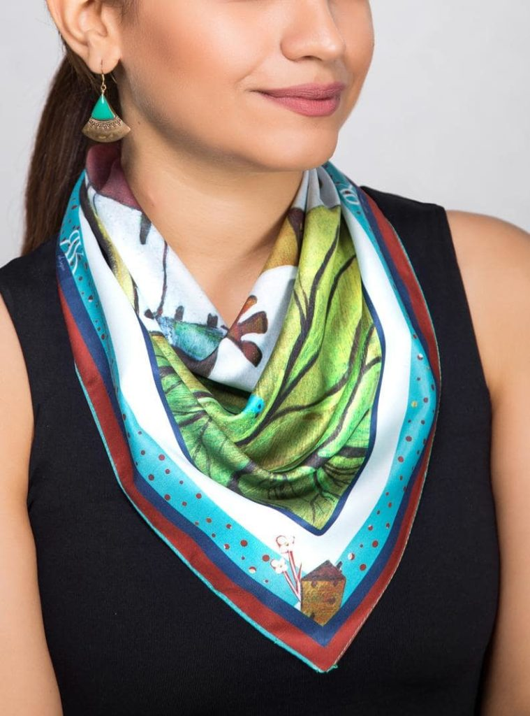 Lightweight Square Neck Scarf