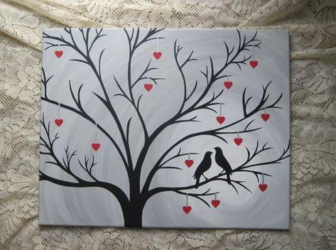 Lovebirds Canvas