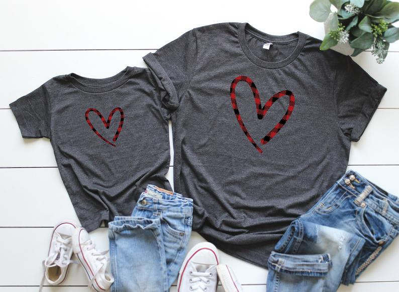 Mother and Daughter Valentine Shirt