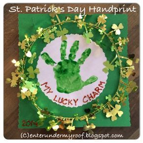 My Lucky Charm Handprint Craft for St. Patrick's Day