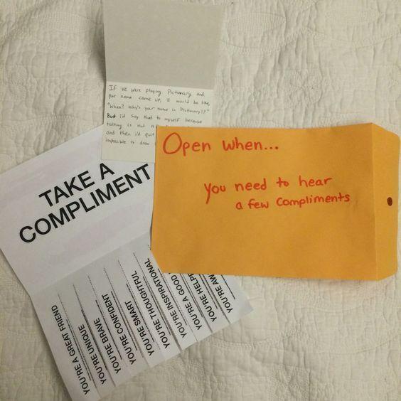 """""""Open When"""" Letters"""