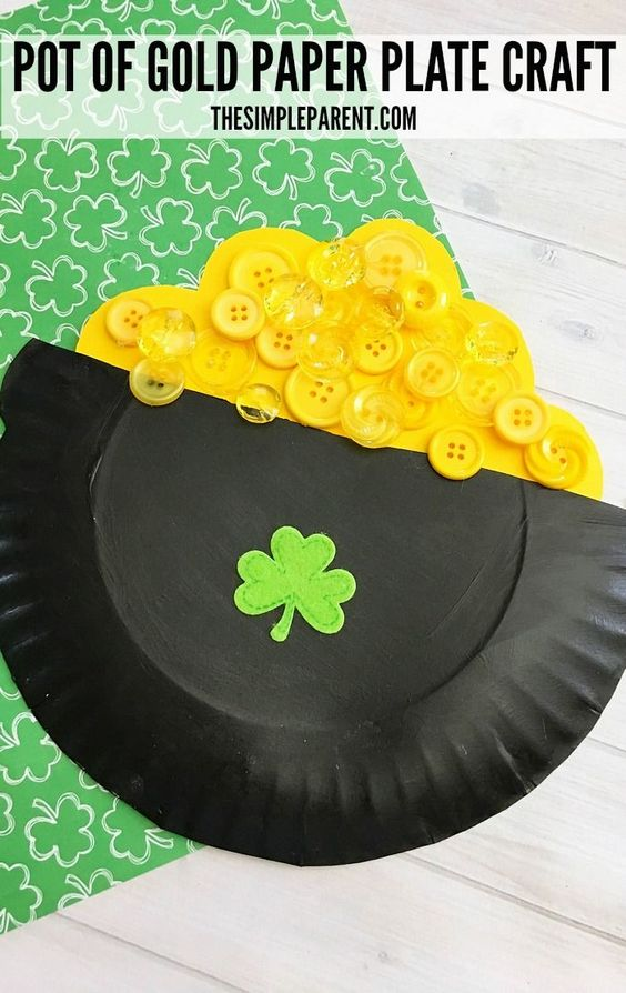 Pot of Gold Paper Plate