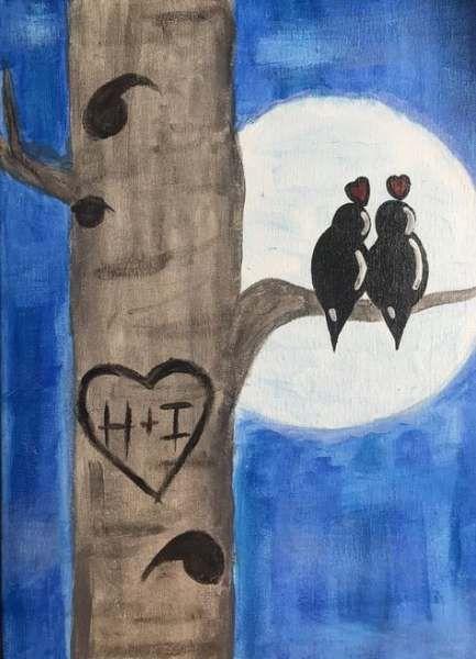 Romantic Woodland Painting