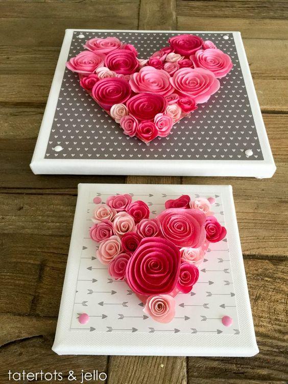 Rose Heart Wall Art