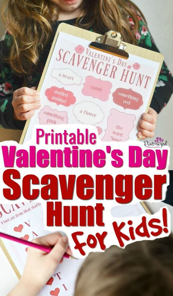 Scavenger Hunt With Valentine's Day theme