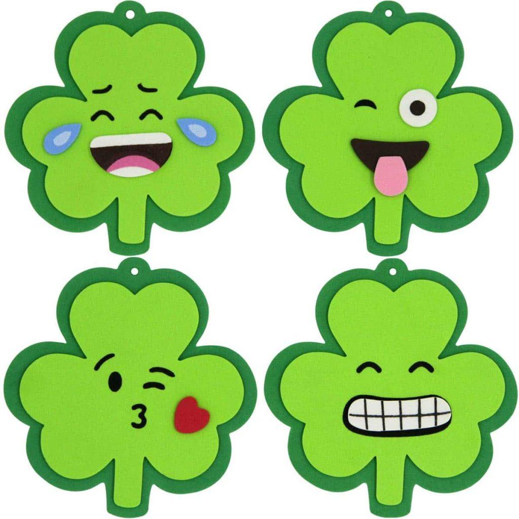 Shamrock Emoji Ornament