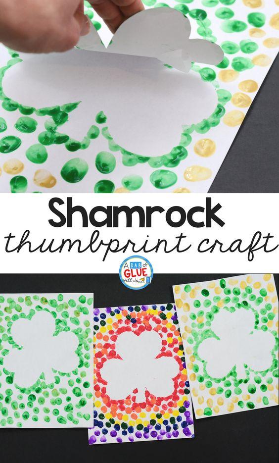 Shamrock Thumbprint Craft