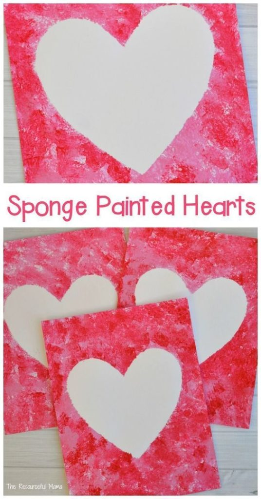 Sponge-Painted Heart