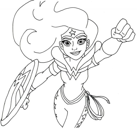 Superheroes Valentine Coloring Pages 4